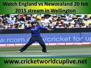 watch ((( Newzealand vs England ))) live cricket match 20 fe