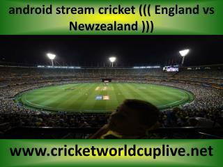 WC 2015 LIVE MATCH ((( Newzealand vs England )))