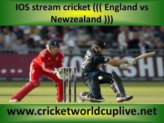 FULL HD MATCH ((( Newzealand vs England )))