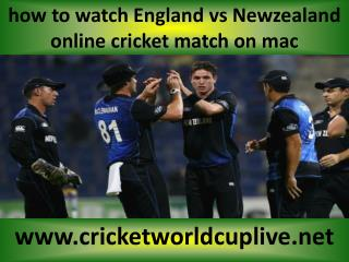 live cricket ((( Newzealand vs England ))) online on mac