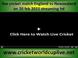 watch Newzealand vs England cricket online