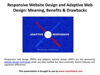 Responsive Website Design and Adaptive Web Design: Meaning, Benefits & Drawbacks