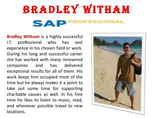 SAP Professional - Bradley Witham