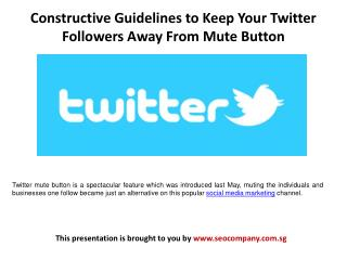 Constructive Guidelines to Keep Your Twitter Followers Away From Mute Button