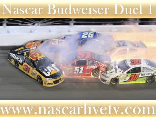 Nascar Budweiser Duel 1 Race Live Streaming