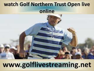 watch Golf Northern Trust Open live 2015