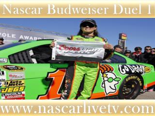 Live Nascar Budweiser Duel 1 Race