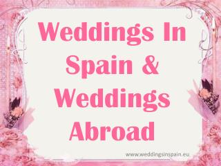 Cheap Weddings Abroad | Beach Weddings in Europe