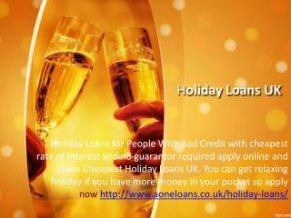 Bad Credit Holiday Loans