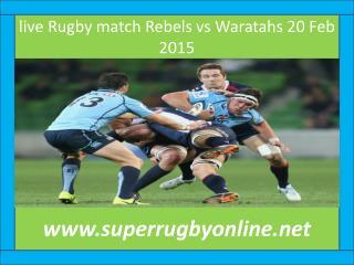 online Rugby Rebels vs Waratahs