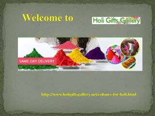 Colours for Holi @ holigiftsgallery.net