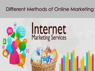 Different Methods of Online Marketing