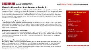 Choose Best Garage Door Repair Company in Batavia, OH