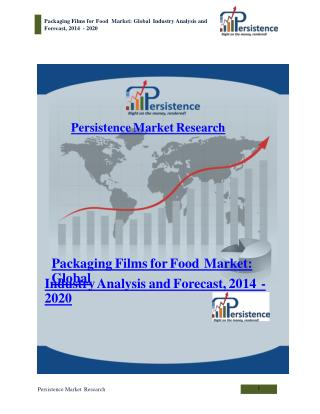 Packaging Films for Food Market: Global Industry Analysis