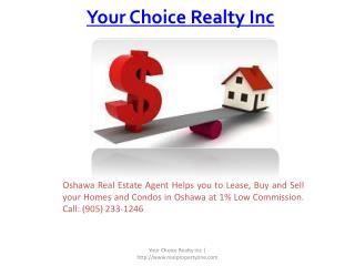 Commission Realtor in Oshawa | Real Estate Agents