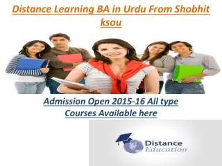 BA<#$#$9278888320@@@>> Admission 2015-16 Distance Learning E