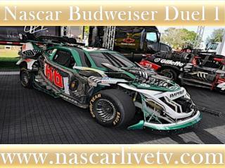 live 75-lap Budweiser Duel 1 at Daytona