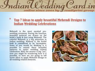 Top 7 Mehendi Design Ideas for Wedding