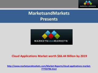 Cloud Applications Market worth $66.44 Billion by 2019
