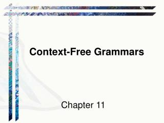 Context-Free Grammars Chapter 11