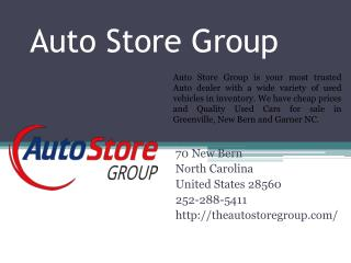 Get Auto Loans in Greenville and New Bern NC