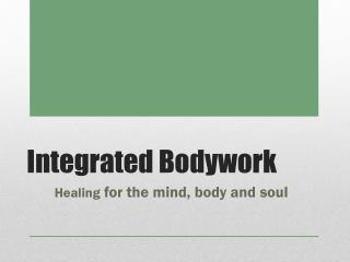Integrated Bodywork Features