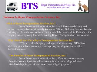 Courier Services, Delivery, Transportations and Shipping For