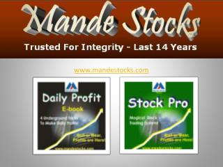 Made stocks - Profitable Stock Futures Tips