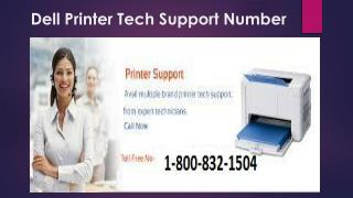 Dell Printer Tech Support 1-800-832-1504 | Toll Free Number