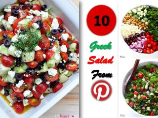 10 Simply Delicious Greek Salad Collection from Pinterest