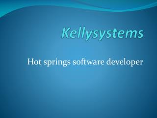 Hot springs software developer