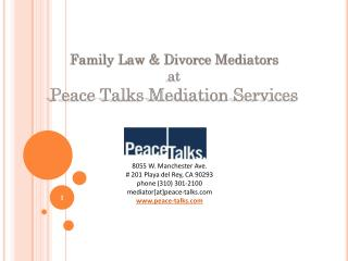 Family Law & Divorce Mediators at Peace Talks Mediation