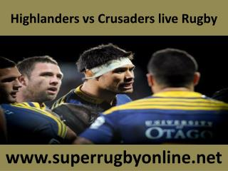 live Rugby match Crusaders vs Highlanders on 21 Feb 2015 str