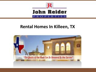 Rental Homes In Killeen, TX