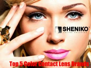 Top 5 Colored Contacts Canada Brands - Sheniko Beauty Supply