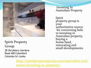 Investing In Australian Property