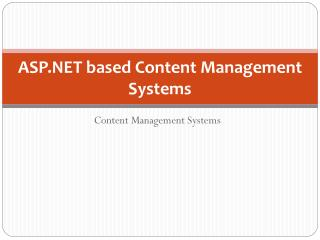 ASP.NET based Content Management Systems