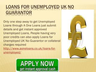 Claim Loans for Unemployed UK No Guarantor