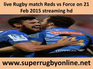 live Rugby match Reds vs Force on 21 Feb 2015 streaming hd