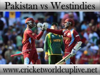Watch Pakistan vs West indies World Cup 2015 Live Streaming