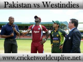 Pakistan vs West indies live