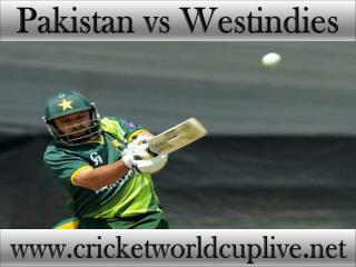 Pakistan vs West indies live cricket