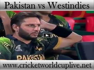 Pakistan vs West indies live cricket match