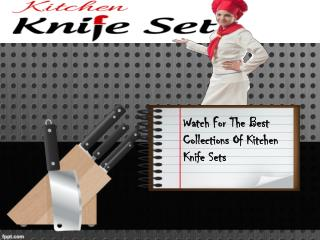 Cheap Kitchen Knife Set: Well Sharpened Knife Sets
