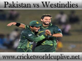 live cricket match Pakistan vs West indies on 21 feb 2015 st