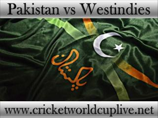 cricket matchPakistan vs West indies online