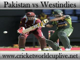 Watch Pakistan vs West indies 21 feb 2015 stream in Christch