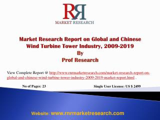 Global and China Wind Turbine Industry 2019 Market Research