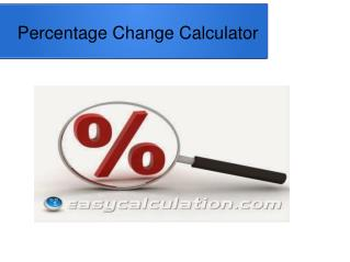 How to Calculate Percentage Change Value
