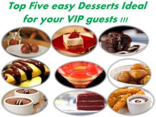 Top Five Desserts